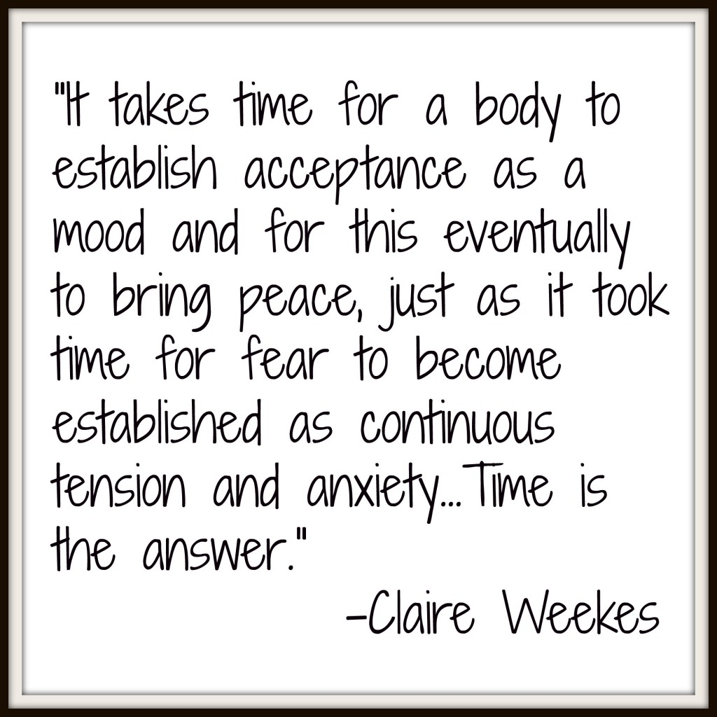 claire weekes, acceptance, fear, fight or flight